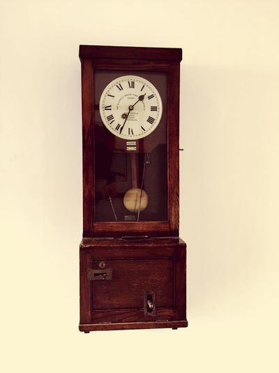 Just in time! Clock Time Old-fashioned Hanging Wall Clock Wood - Material Indoors  No People Clock Face Day Timer Clock In Timber Brown Glass Hands Office Factory The Chocolate Works Terry's York North Yorkshire