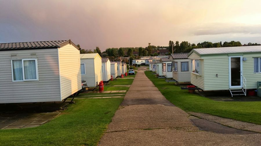 Rows Of Trailer Parked At Hopton Caravan Park