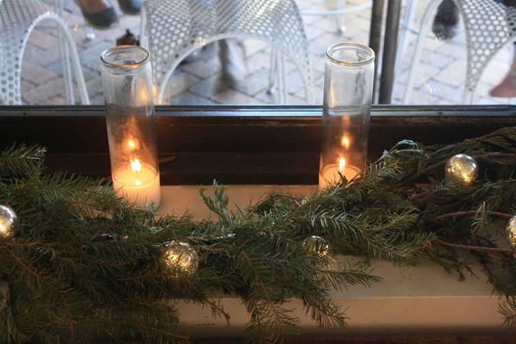 Aromatherapy Oil Burning Candle Christmas Christmas Decoration Christmas Ornament Christmas Tree Close-up Day Flame Flower Illuminated Indoors  Nature No People Pine Cone Table Tea Light Tradition