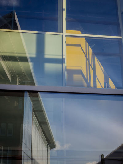 Architecture Building Exterior Built Structure Close-up Day Low Angle View Modern No People Outdoors Sky Window Yellow