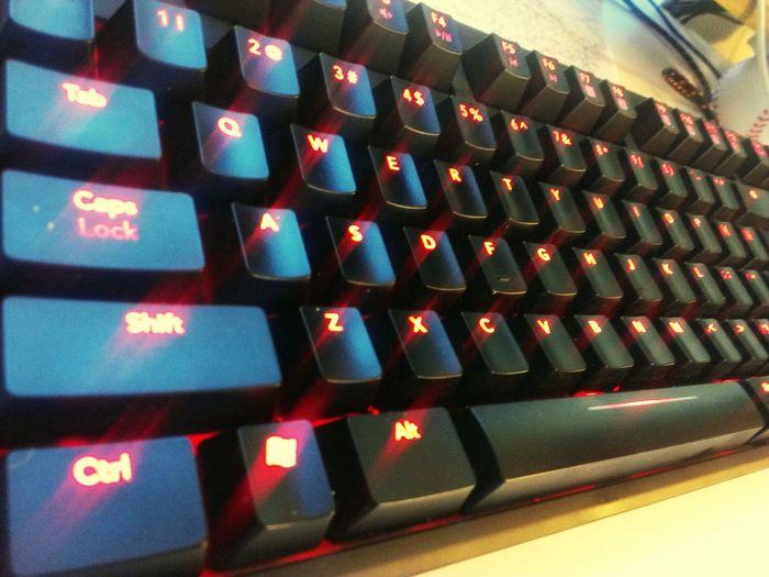 Hello World Taking Photos Computer Keyboard Mechanical Func