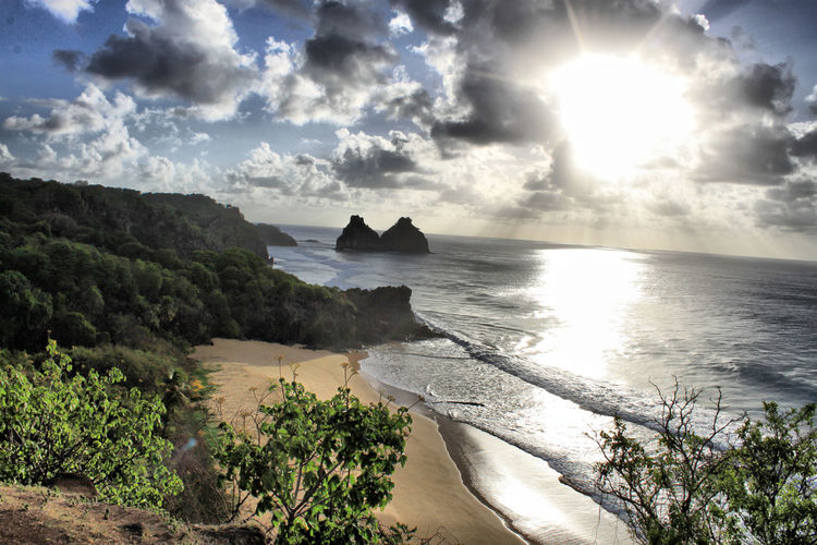 Beach Beauty In Nature Day Horizon Over Water Nature No People Outdoors Scenics Sea Sky Sun Sunbeam Sunlight Tranquil Scene Tranquility Tree Water