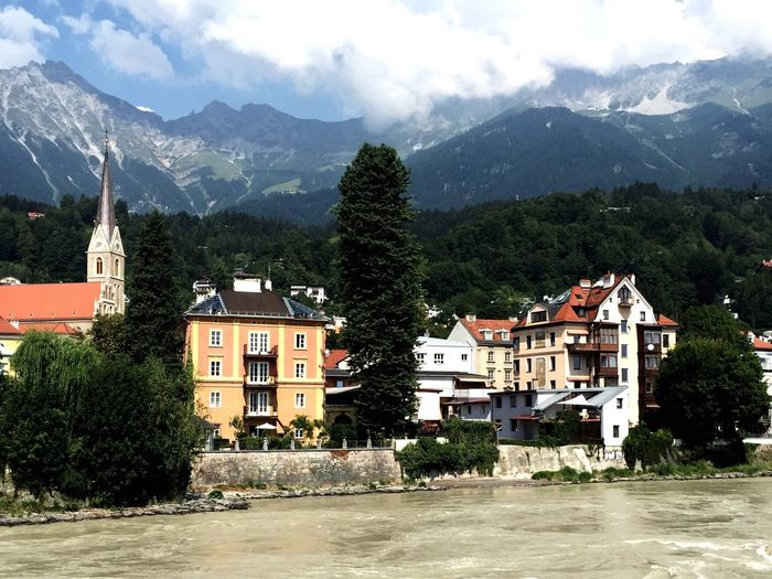 Village between mountains Mountains Village River Freedom Nature City Traveling Water Trees House Houses Hill Green Austria Relaxing Taking Photos Enjoying Life View Panorama Silence