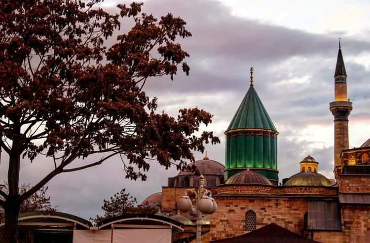 Mevlana Turbesi Religion Architecture Dome Travel Destinations Place Of Worship History City Politics And Government Mevlana Mosque Mevlanacelaleddinrumi Konya No People Spirituality Cloud - Sky Building Exterior Built Structure Outdoors Sunset Sky Cityscape Tree Day