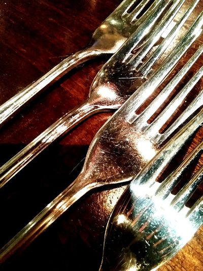 Fork On The Table Arranged Objects Pattern Photography Close-up Perfectshot Unique Syle Abstract Design EyeEmMarket.