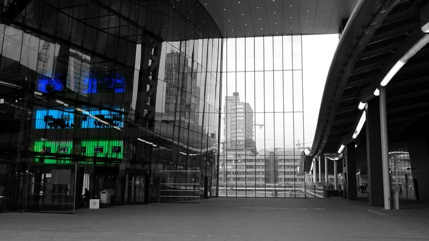 The Architect - 2016 EyeEm Awards Utrecht Centraal Jaarbeursplein Colorsplash Monochrome Buildings Reflection Glass (c) 2016 Shangita Bose All Rights Reserved Urban Geometry Color Of Life
