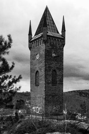 Pulverturm der Stadt Greiz Greiz Black & White Vogtland Architecture Firehype