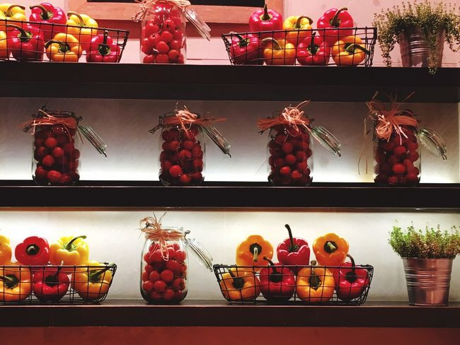 Fruit Variation Large Group Of Objects Retail  Food And Drink Choice No People Healthy Eating Shelf Food Cantaloupe Freshness Indoors  Day Tomatoes Peppers Mediterranean Food Mediterranean Diet Vegetable Red