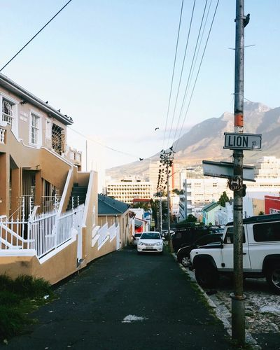 cape town. City Clear Sky No People Sky Day Car South Africa Cape Town Capetown Street Streetphotography Town House