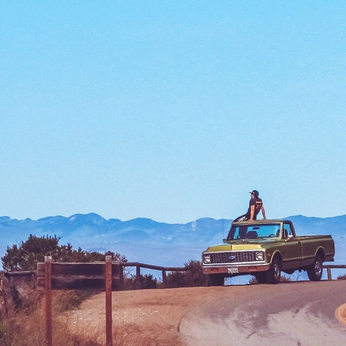 Central California coast surf check! Copy Space Clear Sky Outdoors Day Nature Beauty In Nature Sky Mountain No People Surf Vintage Chevy Truck California Beach Life Canon