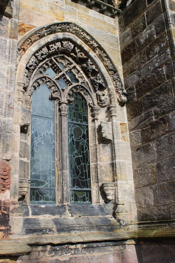 Abbey Architecture Building Exterior Built Structure Day Edinburgh Fresco No People Outdoors Place Of Worship Religion Rosslyn Chapel Scotland