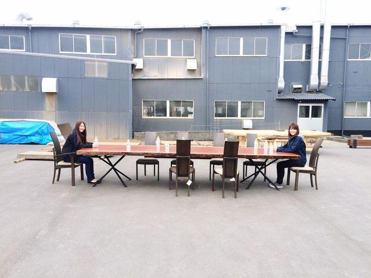 4mブビンガ 工場 Dining Table Furniture Mokuba Japan Atelier Table Bubinga Factory 4m