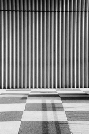Stripes and Squares Abstract Architecture Backgrounds Black And White Contrast Day Floor Tiles Light And Shade No People Pattern Squares Striped Stripes And Squares Stripes Pattern Textures Vertical