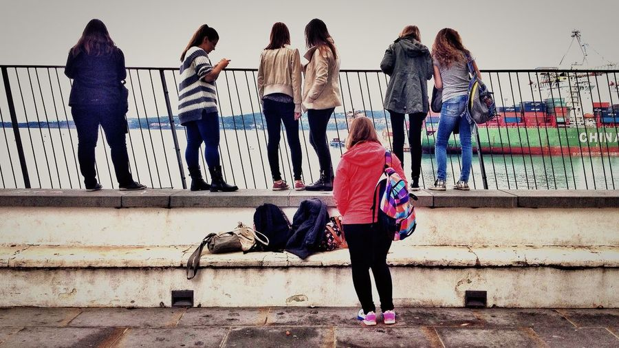 Streetphotography IPhoneography People Watching Port Of Koper Ship Spotting Girls