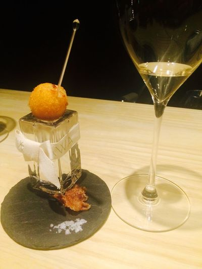 Croquette Champagne Bar Nightlife Food Photography Enjoying Life