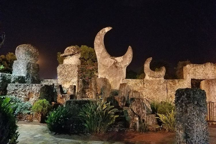 Late Night View - Coral Castle Coral Castle Coral Castle  Close-up Sculpture