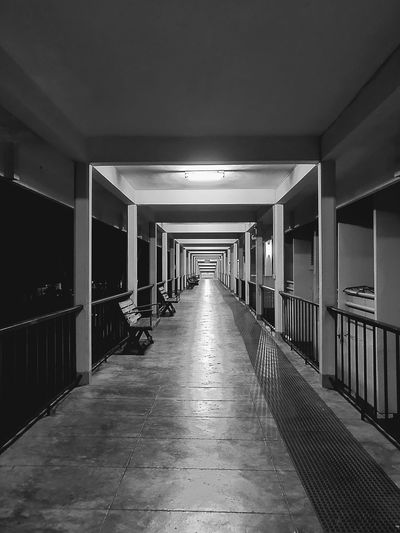 Empty corridor in building