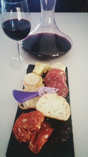 Cheese Ciabatta Balsamic Fig Chutney Redwine Shiraz🍷 Twohands Friday Food And Drink Lovemylife Salami