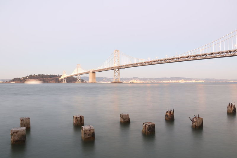 Bridge Bridge View Over Bay Clear, Night Sky, Reflection, Evening Lights & Shadows Lights At Dusk Night Lights Nightphotography Water