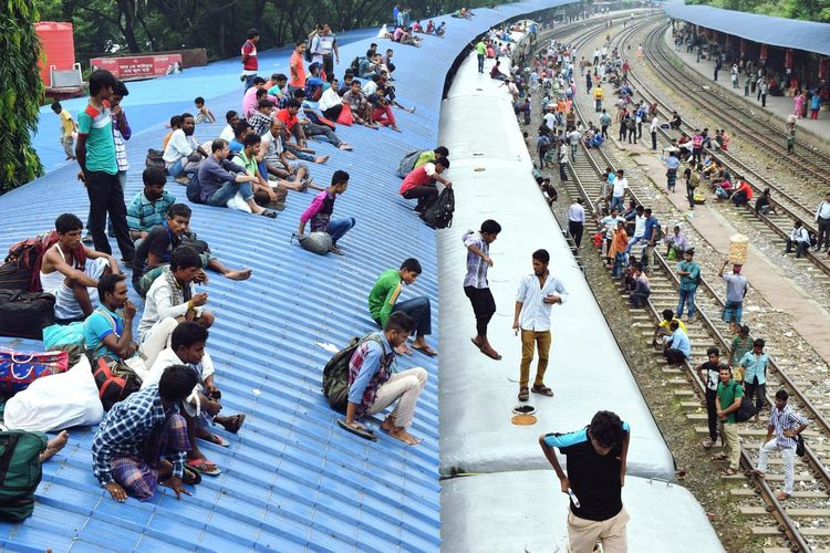 Large Group Of People High Angle View Standing Person Vacations Day Outdoors Crowd City Life People Photography Tourism Human Representation Traveling Photography Traveltroubles Trainphotography Traintrips Nature Trainroof Rooftop Scenery EyeEm Masterclass Train Arriving At Station