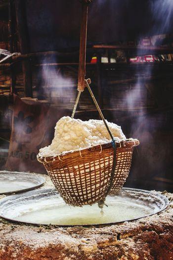 Salt In Basket At Factory