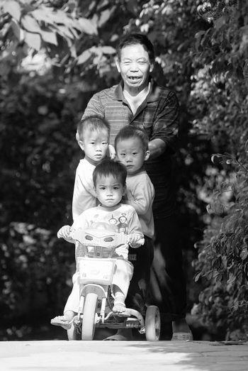 China 2003 Black And White Boys Childhood Children China Family