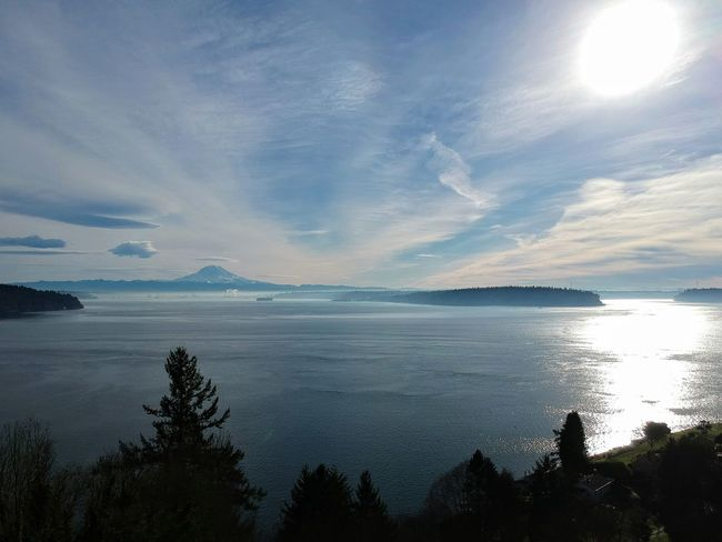 Puget Sound Dji Spark Landscape Reflection Scenics Sea Cloud - Sky Sunset Mountain Water Sky Outdoors Beauty In Nature Nature