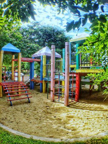 สนามเด็กเล่น Tree Playground Sand Day No People Outdoor Play Equipment Outdoors Built Structure Nature Sky