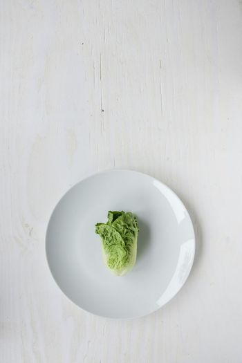 Lettuce heart on white plate. Green Simplicity Food Dieting Hungry Vegetarian Vegan Sustainable Diet Diet & Fitness Dieta Dietfood Veggie Green Color Minimalism