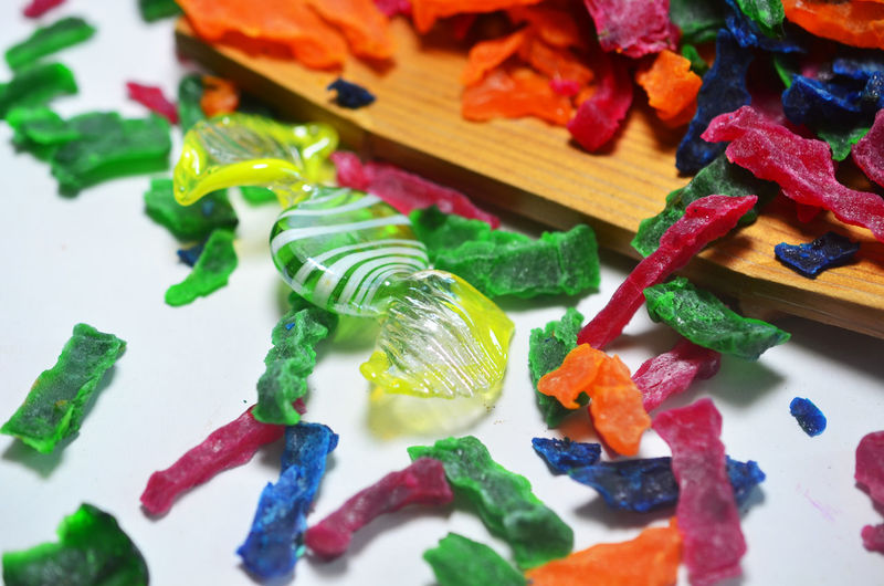 Candy and dried jelly sweet snack