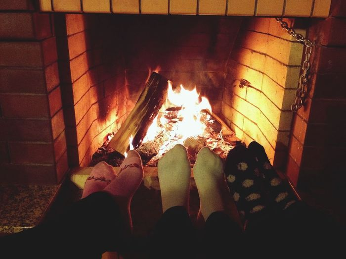 Fire Countryhouse Friends Comfortable