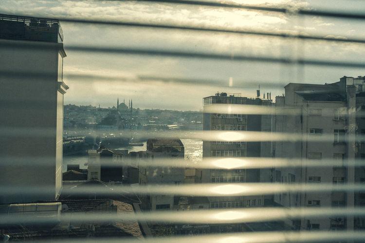 Window Transparent Glass - Material Architecture Built Structure No People Cloud - Sky Reflection Building Exterior Sky Rain Building Wet Day City Nature Glass Outdoors Rainy Season RainDrop Apartment Istanbul Karaköy Golden Horn
