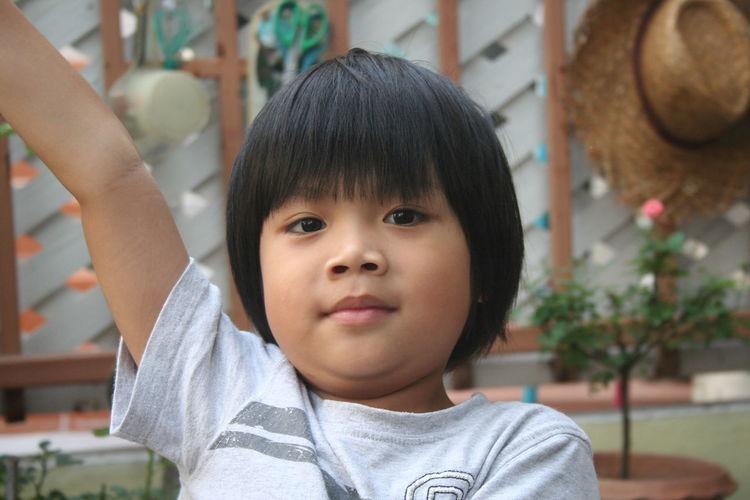 Close-up of cute boy