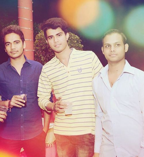 Party with friends Kapil n Manish