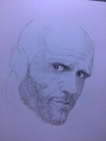 Jason Statham Drawing ArtWork Hello World Art, Drawing, Creativity MyDrawing ジェイソンステイサム Transporter