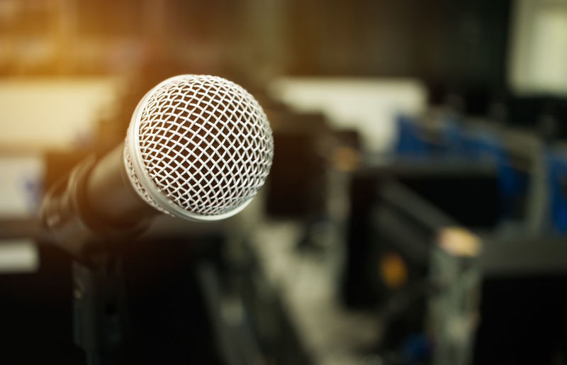 Microphone on