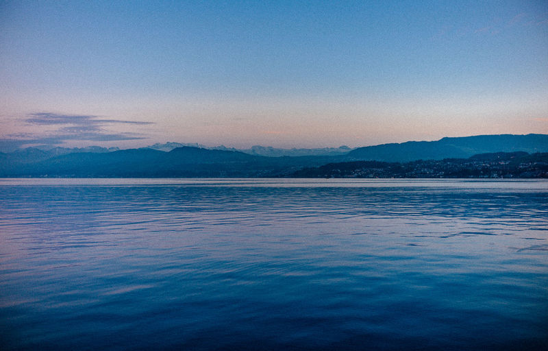 Beauty In Nature Blue Day Hills Leica Love Nature No People Outdoors Reflection Scenics Sea Sea And Sky Sky Sunset Tranquil Scene Tranquility VSCO Water Zürich