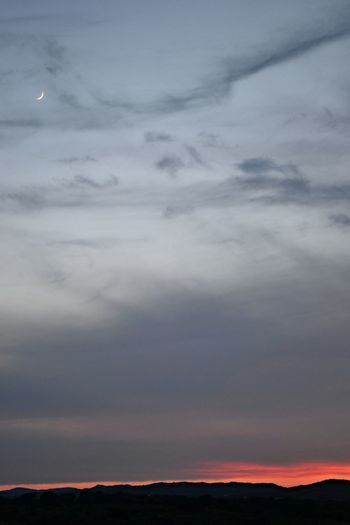 Sunset Moon Clouds And Sky Sky_ Collection