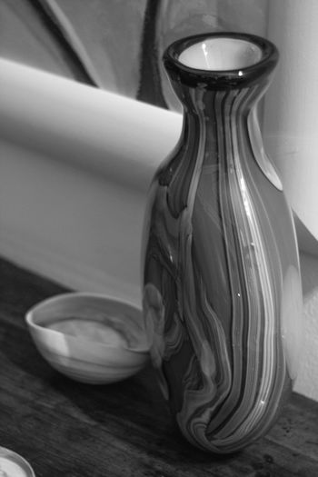 Natura morta; Vaso di sera Lines Art Close-up Container Focus On Foreground Glass - Material Indoors  No People Painting Still Life Table Vase Wood - Material