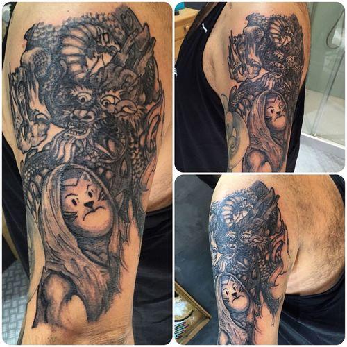 Black Tattoo Tattoo ❤ Asian  Traditional