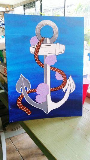 Painting Blue Anchor Artstuff