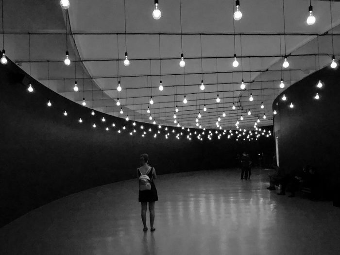 In a museum Architecture Black And White Blackandwhite Architecture_collection EyeEm Best Shots Eye4photography  EyeEm Gallery Illuminated Lighting Equipment Ceiling Indoors  Women Architecture Leisure Activity Lifestyles People Light Electric Light Built Structure The Architect - 2019 EyeEm Awards The Mobile Photographer - 2019 EyeEm Awards My Best Photo
