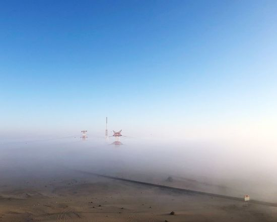 Outdoors Tranquility Nature Day Tranquil Scene Sand Fog Scenics Beauty In Nature Blue Wind Power Landscape