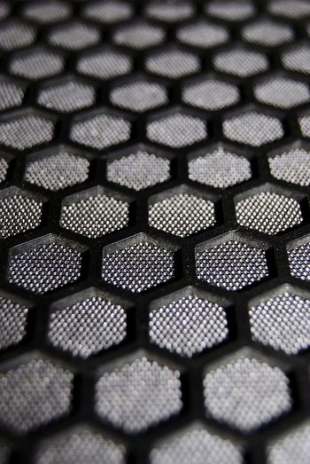Pattern Hexagon Hexagonal Full Frame No People Backgrounds High Angle View Indoors  Close-up Simplicity Abstract Symmetry Repitition Textures And Surfaces Textured  Textures And Patterns Repetition Futuristic Abstract Backgrounds Mesh Material Metallic Space Age Fabric Textured  AI Now