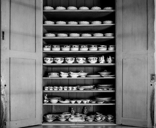 Crockery cupboard, Tyntesfield, Bristol Tyntesfield Architecture Black And White Monochrome