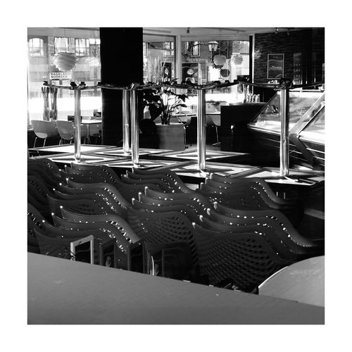 Ice Cream Parlour Ice Cream Parlor Cafe Cafetaria B&w Monochrome Closed