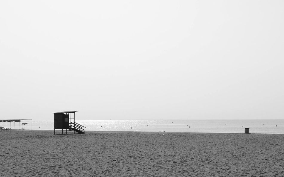 Beach Beauty In Nature Day Horizon Over Water Lifeguard  Lifeguard Hut Nature No People Outdoors Sand Scenics Sea Sky Tranquility Water