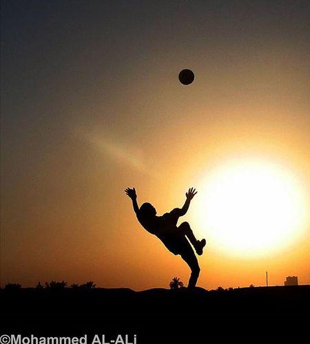 Canon 350D Canon350D Silhouette Football Kick Scissor Sun Sunset Player Iraq Basrah Sky Soccer Ball