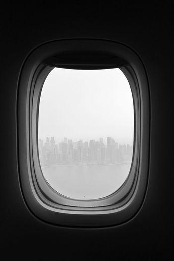 Skyline Skylines Sky Skyline Doha Doha Doha,Qatar Window Flight Flightwindow Blackandwhite Black And White Blackandwhite Photography