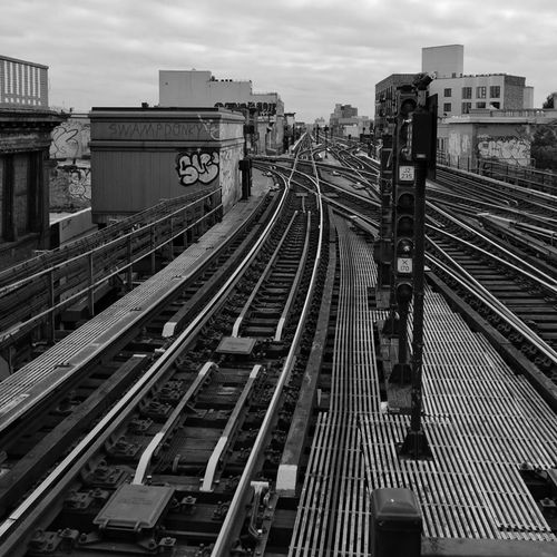 City Transportation Railroad Track Rail Transportation Train - Vehicle High Angle View Travel Mode Of Transport Outdoors Built Structure Sky Architecture Cloud - Sky No People Horizontal Public Transportation Day Futuristic Cityscape Leica